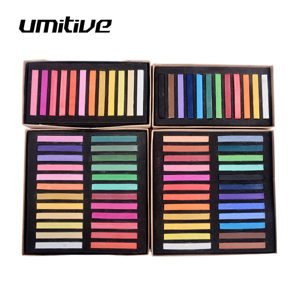 Umitive Раскрашивание мелом пастельных цветов, товары для рукоделия для детей, школьные принадлежности