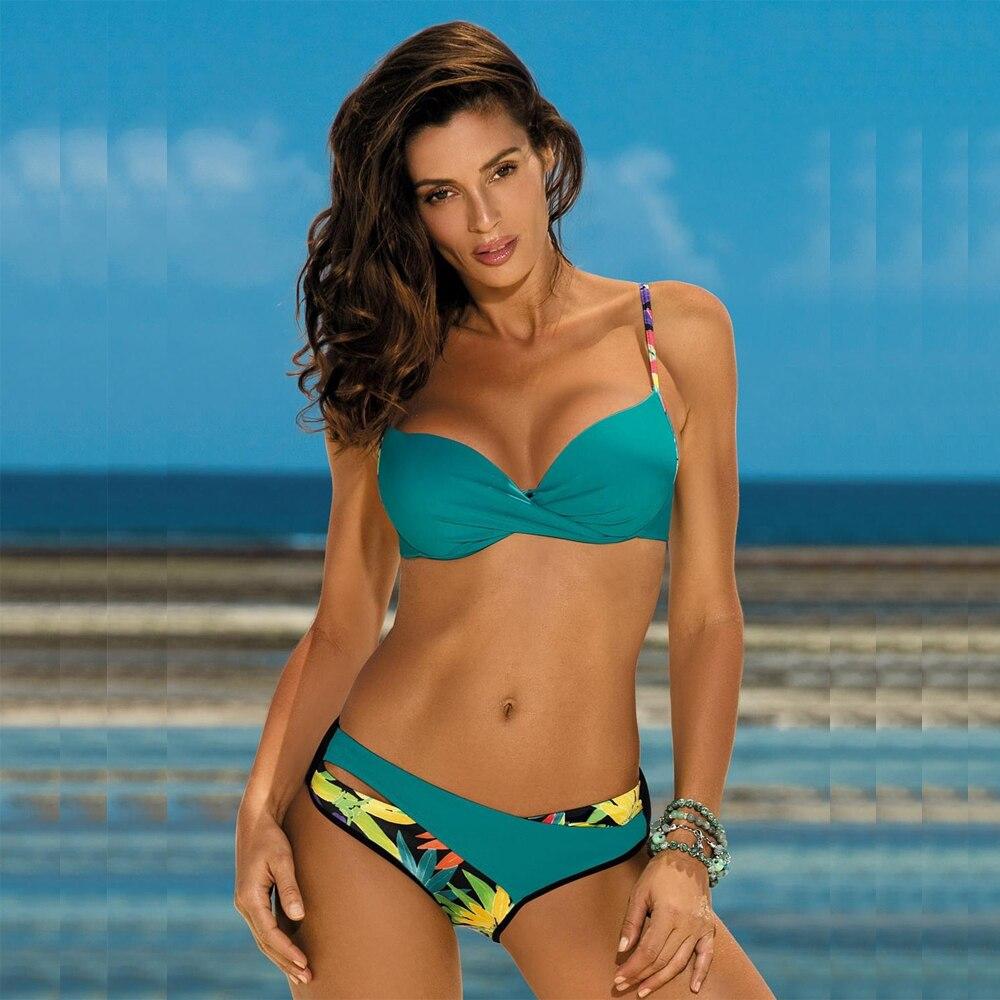 2020 Sexy Bikini Swimwear Women Push Up Swimsuit Bikini Set Brazilian Summer Cut Out Beach Bathing Suits female Biquini Print 1