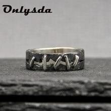 Estilo coreano antigo vintage 316l anel de aço inoxidável frankenstein carne anel anéis de banda de casamento masculino biker jóias presente osr705