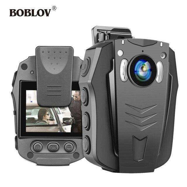 BOBLOV – caméra corporelle WiFi 1296P, portable, Vision nocturne, mémoire intégrée