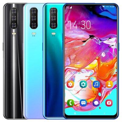 Глобальная версия A51 A71 A91 Android смартфон 6,3 дюймов мобильный телефон с двумя sim-картами 3G сотовый смарт-телефоны с распознаванием лица трубка