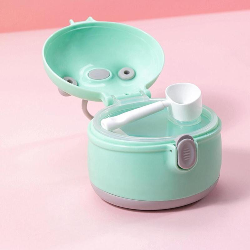 Powder Milk Storage Box Portable Baby Food Snacks Container Newborn Milk Powder Case Feeding Accessories With Spoon