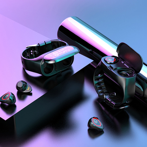 Image 5 - M1 TWSหูฟังไร้สายบลูทูธ5.0 Smart WatchสุขภาพTracker Pedometerสร้อยข้อมือฟิตเนสสมาร์ทสายรัดข้อมือสำหรับกีฬา