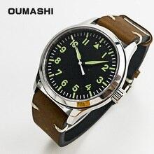 42mm Pilot Watch Men Miyota 8215 Automatic Military Style Sa