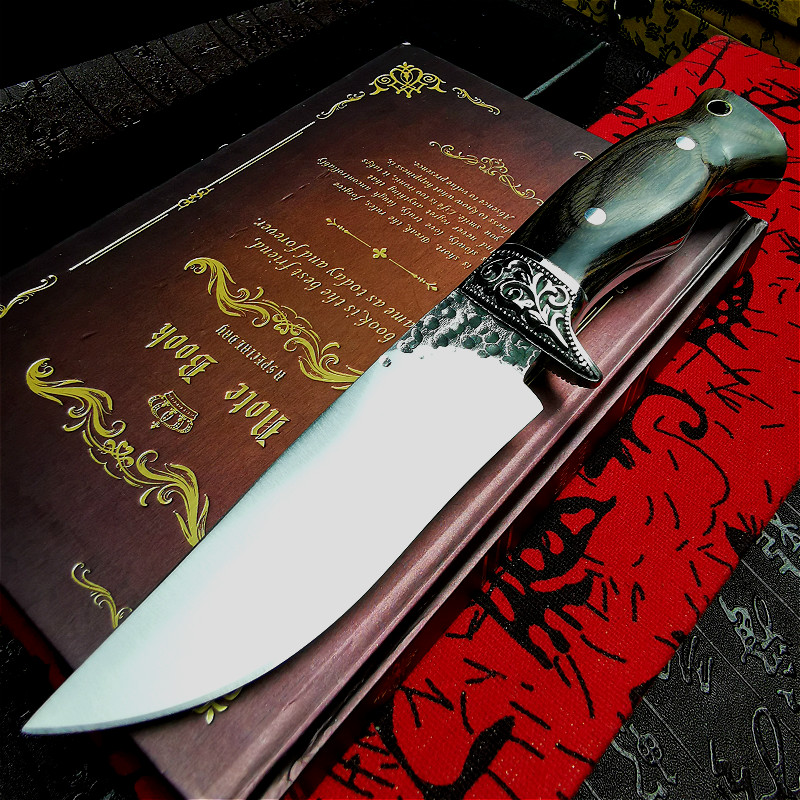 Light Knife For Hunting Knife Vacuum Straight Ebony Outdoor Integrated PEGASI Tactical  Mirror Handle Straight Steel Forging
