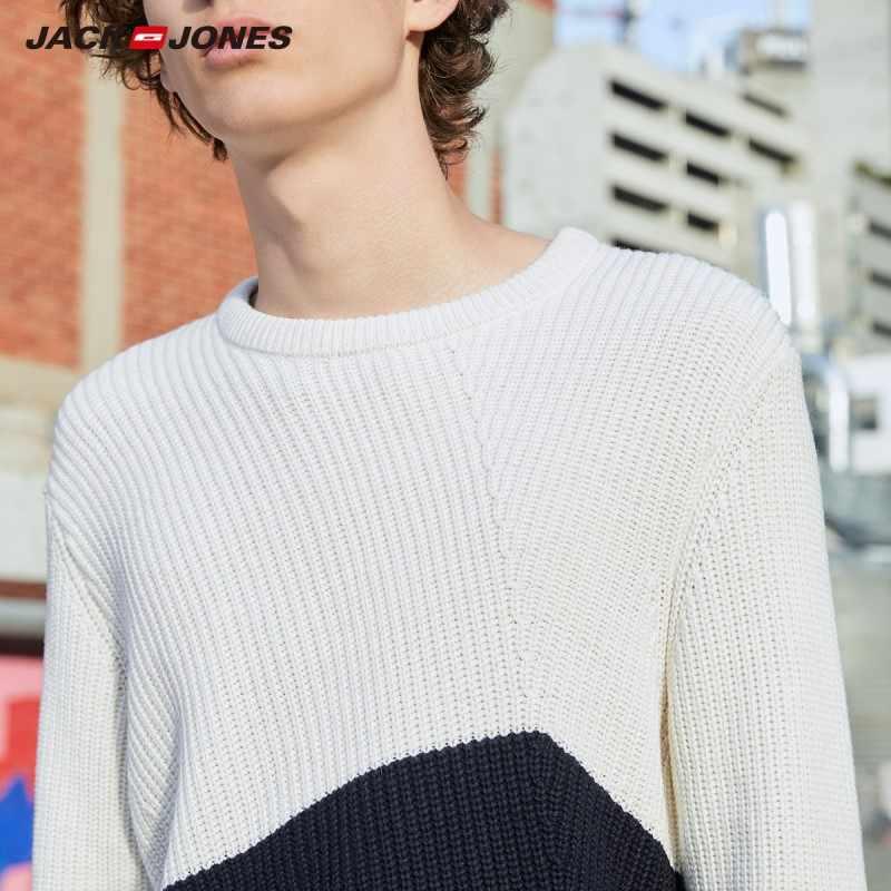 Jackjones 男性の快適なステッチ色のラウンドネックのスタイル 219324514