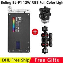 Tasca Boling RGB LED Video Luce di 12W Dimmable Pieno di Colore 2500 8500K per la Macchina Fotografica DSLR Studio Vlogging fotografia di Illuminazione BL P1