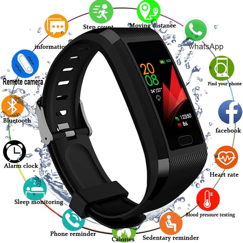 2020 Touch Screen Smart Band Watch Fitness Tracker Smart Bracelet Blood Pressure Measurement  Sport Fitness Bracelet Men Women