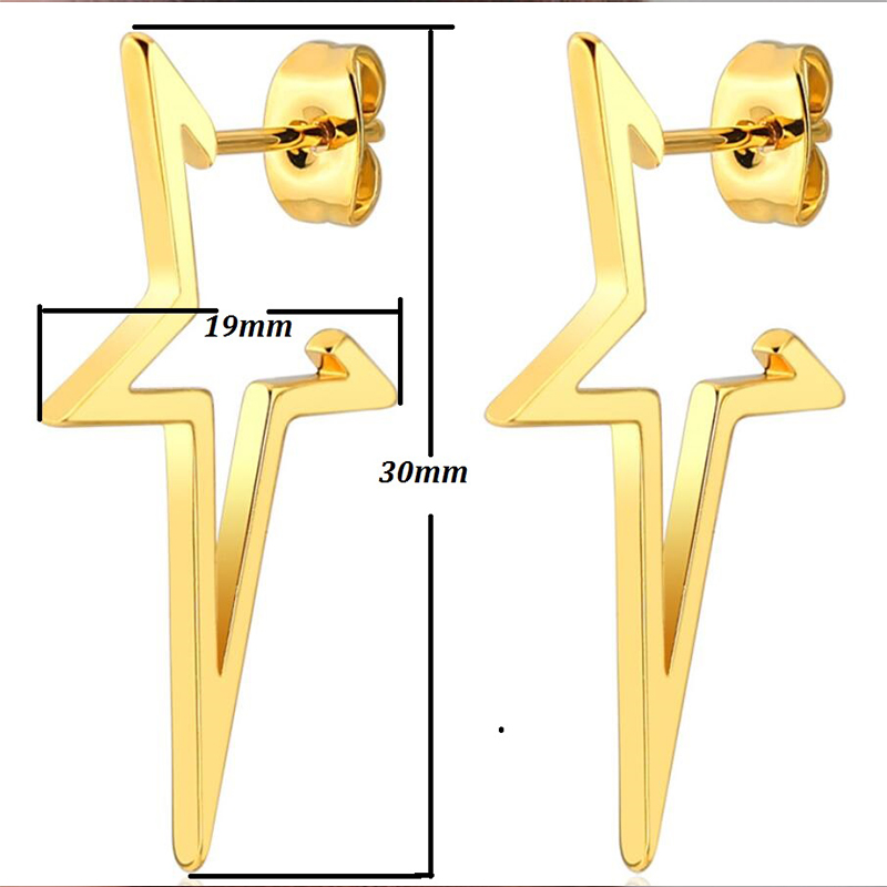 Hfarich New Fashion Simple Colorful Fashion Star Hammer Earrings Elegant Charm Generous Ear For Women Girls Family Party Gifts in Stud Earrings from Jewelry Accessories
