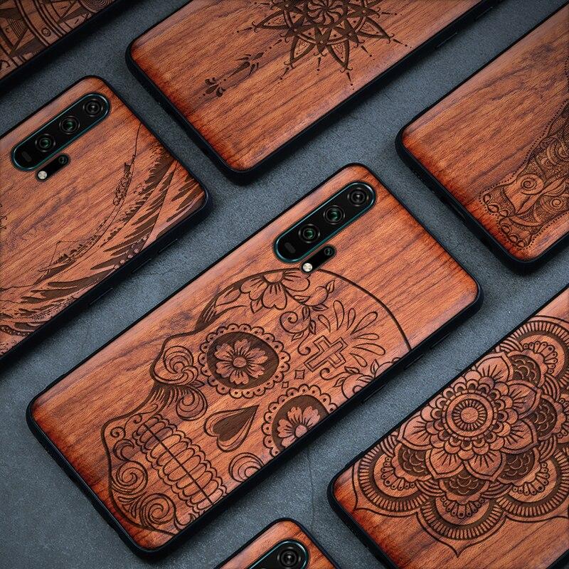 Phone Case For Huawei nova 5t 5 5z 5i pro Original Boogic Wood Case For Huawei Nova 6