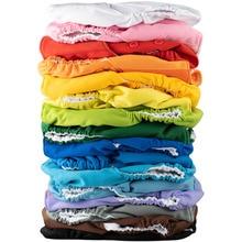 Эльф пеленки Однотонная одежда одноцветное Цвет карман оставаться сухим пеленки для плавания Стирать Многоразовые новорожденный ткань детские пеленки