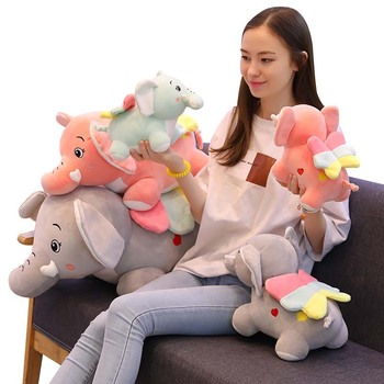Dropshipping Epacket shopify service Elephant doll plush toy baby sleeping with elephant pillow soft