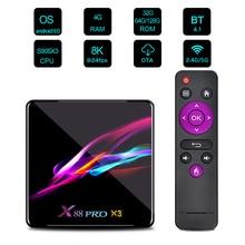 Android 9.0 TV Box X88 PRO X3 Amlogic S905X3 4K TV