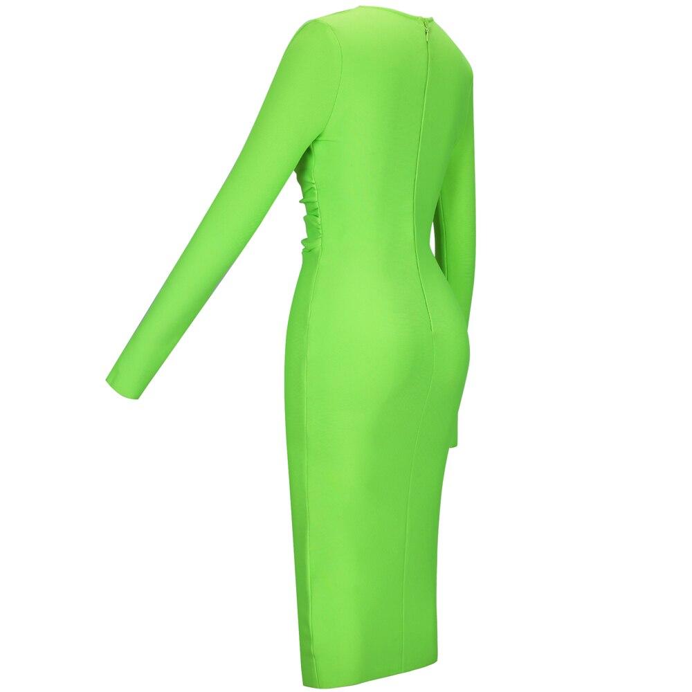 Bodycon v Neon uzun