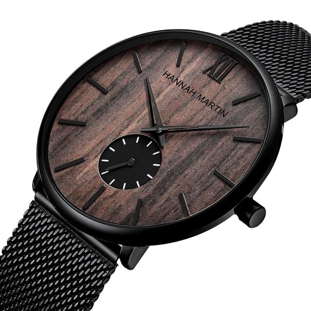 Купить мужские водонепроницаемые часы с сетчатым ремешком из нержавеющей картинки цена