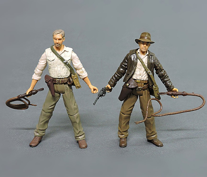 8cm Cartoon Anime Indiana Jones Action Figures Dolls Kids PVC Education Model For Collection Toy