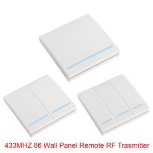 Image 4 - Transmissor e interruptor de controle remoto qiachip, painel de parede sem fio rf 433 mhz ac 110v 220v 1 ch receptor de iluminação do quarto