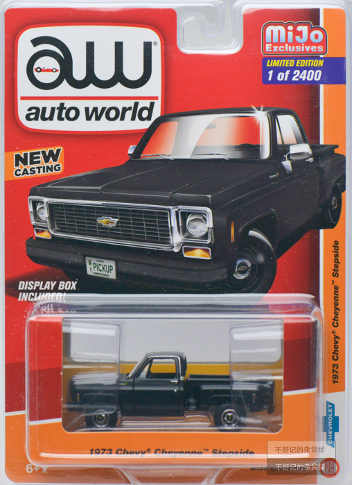 AUTO WORLD AW CARS 1/64 1973 Chevy Cheyenne Stepside  Chevy Pickup Collector Edition Metal Diecast Model Cars Kids Toys Gift
