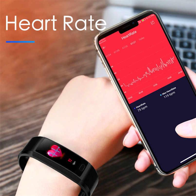 2019 Smart Horloge Mannen Bloeddruk Smart Klok Waterdichte Smartwatch Vrouwen Sport Gezondheid Armband Horloge Smart Voor Android Ios