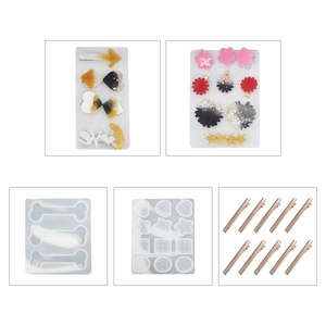 CharmHair Pin литье силиконовая форма «сделай сам» создания украшений ручной работы с украшением в виде кристаллов эпоксидная смола, форма R2LE