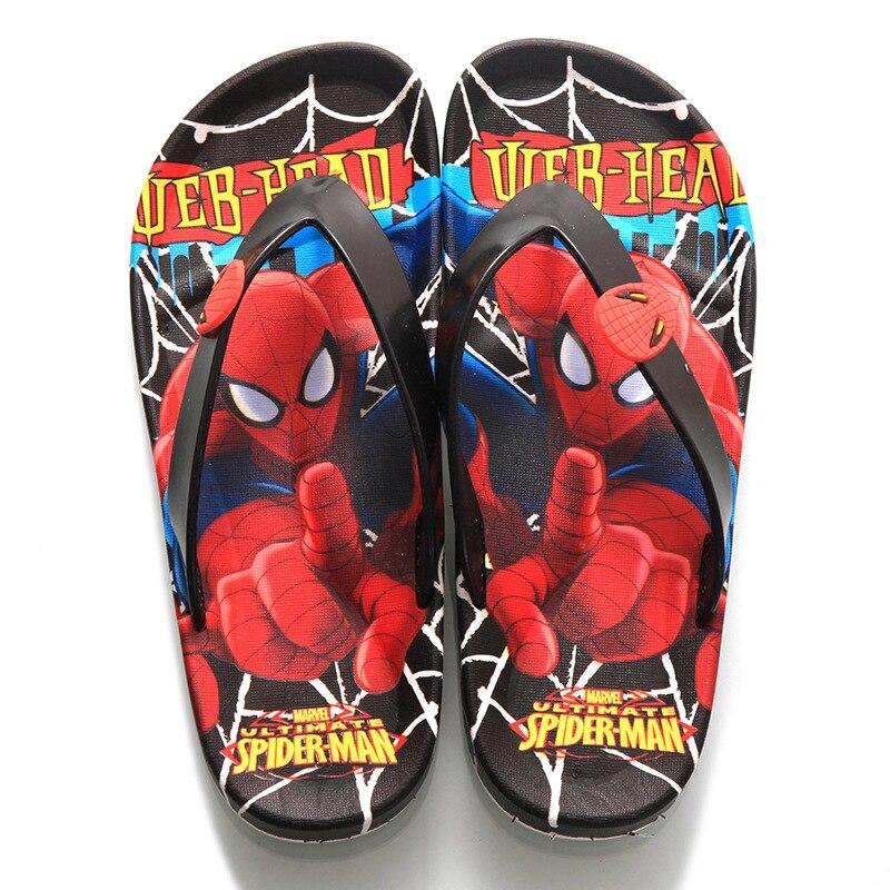 2020 Flip Flops Kids Spiderman Boys Girls Slippers Summer Cartoon Beach Sandals New Toddler Girls Slippers Children Casual Shoes