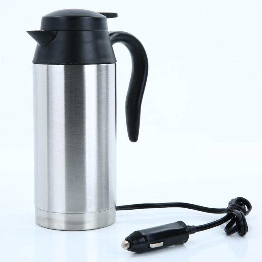 800mL 12V Car Heating Cup Car Stainless Steel Automatic Boiling Water Cup for Car Travel