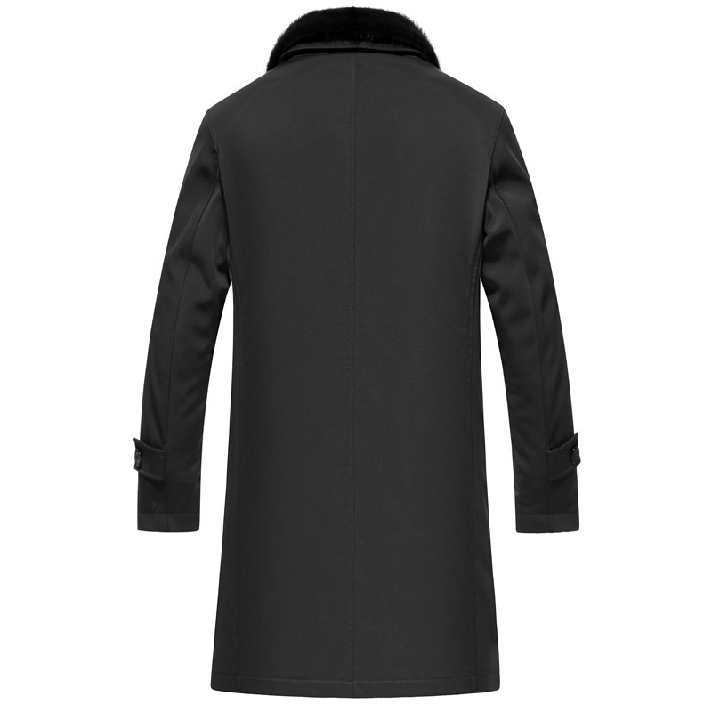 Real Rabbit Fur Liner Parka Men Long Coat Winter Jacket Men Mink Fur Collar Parkas Plus Size Chaqueta LSY088501 MY1411