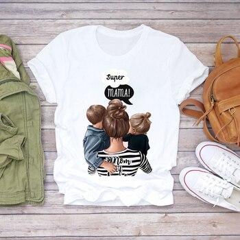 Women Cartoon Super Mom Life Momlife Summer Print Lady T-shirts Top T Shirt Ladies Womens Graphic Female Tee T-Shirt 12