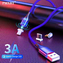 Magnetic Charge Micro USB Type C Cable For iPhone Xiaomi Android Mobile Phone Fast Charging USB C Cable Magnet Charger Wire Cord magnetic adsorption usb charging cable micro type c lighting for iphone x fast charge charger cord for xiaomi mobile phone cable