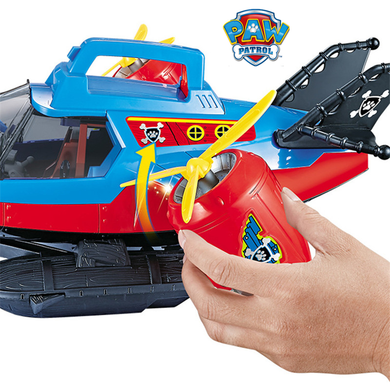 Image 4 - Paw Patrol Dog Toy set Toys Air patrol Aircraft Toy Pirate Ship Robot Dog Music Action Figures Toy for Children Birthday GiftAction & Toy Figures   -