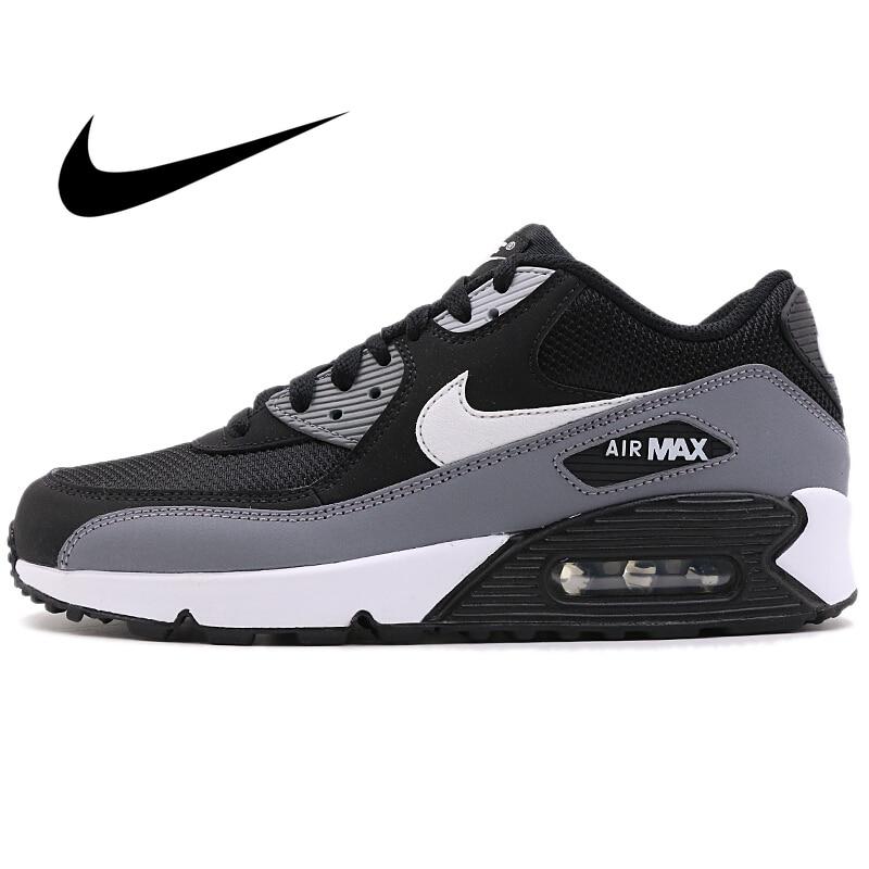 Original NIKE AIR MAX 90 ESSENTIAL Men's Running Shoes Comfortable Sport Outdoor Sneakers Athletic Designer Footwear AJ1285-018