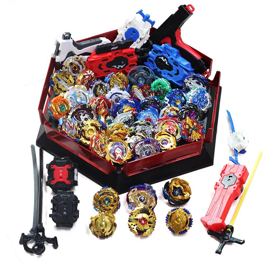 Takara Tomy Bey Bay Burst Toys Handlebar Launcher Starter And Arena Original Metal Fusion God Spinning Tops Blade Blades Toys