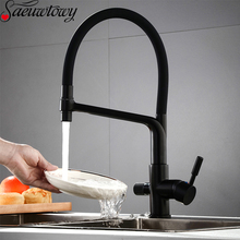 Kitchen Faucet Rotating-Sink-Mixer Dual-Mode Chrome Brass with 360/