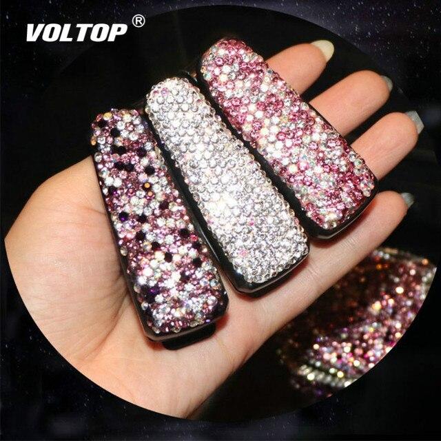 Strass Diamanten Bril Zonnebril Clip Auto Accessoires Zonneklep Map Ticket Ontvangst Card Clip Opslag Houder Case