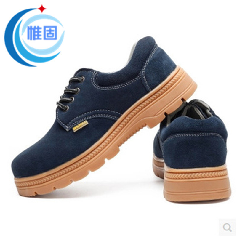Safety Shoes Men's Summer Breathable Deodorizing Steel Head Smashing Stab Shoes Wear-Resistant Electric Welding Rubber Sole Safe