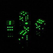 5 шт. металлические многогранные игральные кости фосфоресцирующие D6 Набор кубиков для DND RPG MTG ролевые игры Аксессуары для настольной игры