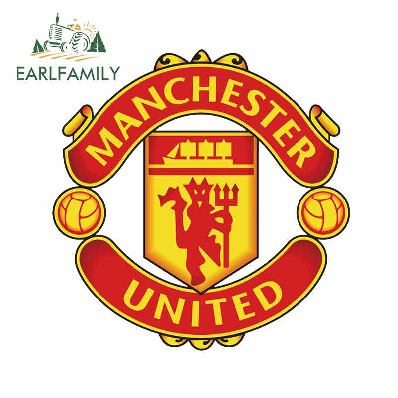 EARLFAMILY 13cm X 12.9cm For Manchester United DIY Motorcycle Stickers Vinyl Car Wrap Graffiti Sticker Body For Car Decals