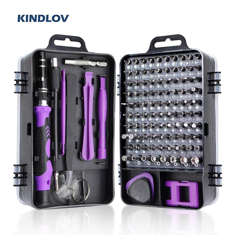 KINDLOV 115 In 1 Screwdriver Set Magnetic Torx Phillips Screwdriver Bit Precision Screw
