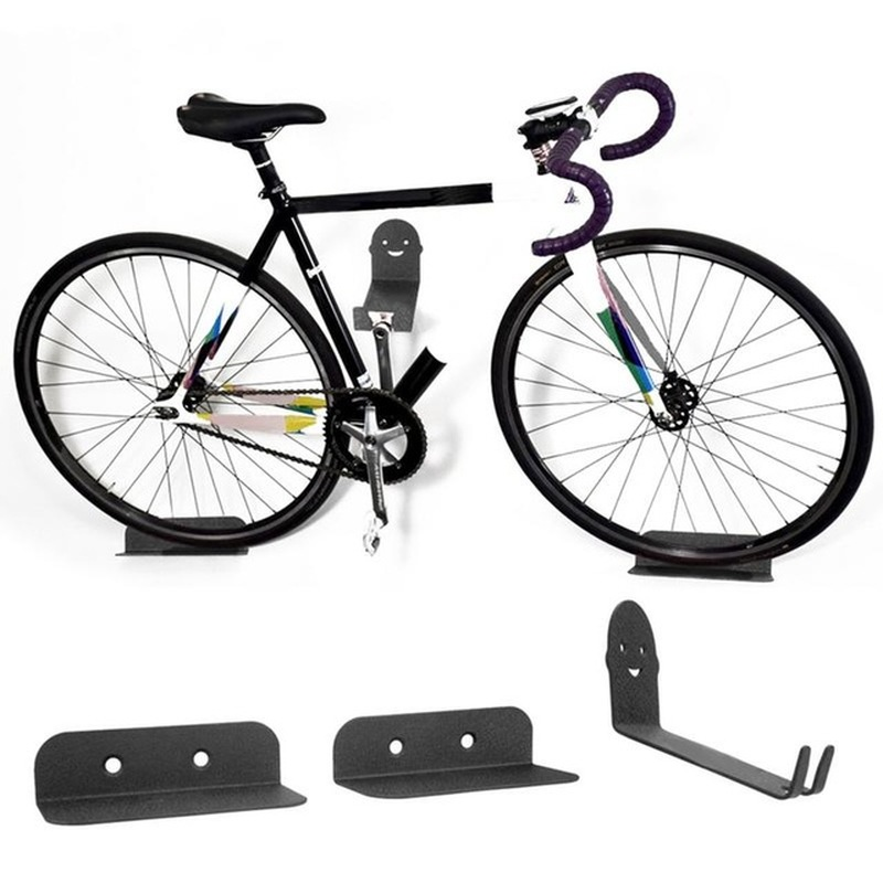 High-carbon Steel Bicycle Wall Mounted Storage Rack Can Bear 100kg Multifunctional Guitar Skateboard Wall Display Rack Hooks