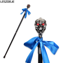 Skull Head Steampunk Walking Stick Man Luxury Decorative Walking Cane Women Vintage Metal Canes Men Fashion Gothic Walking Stick