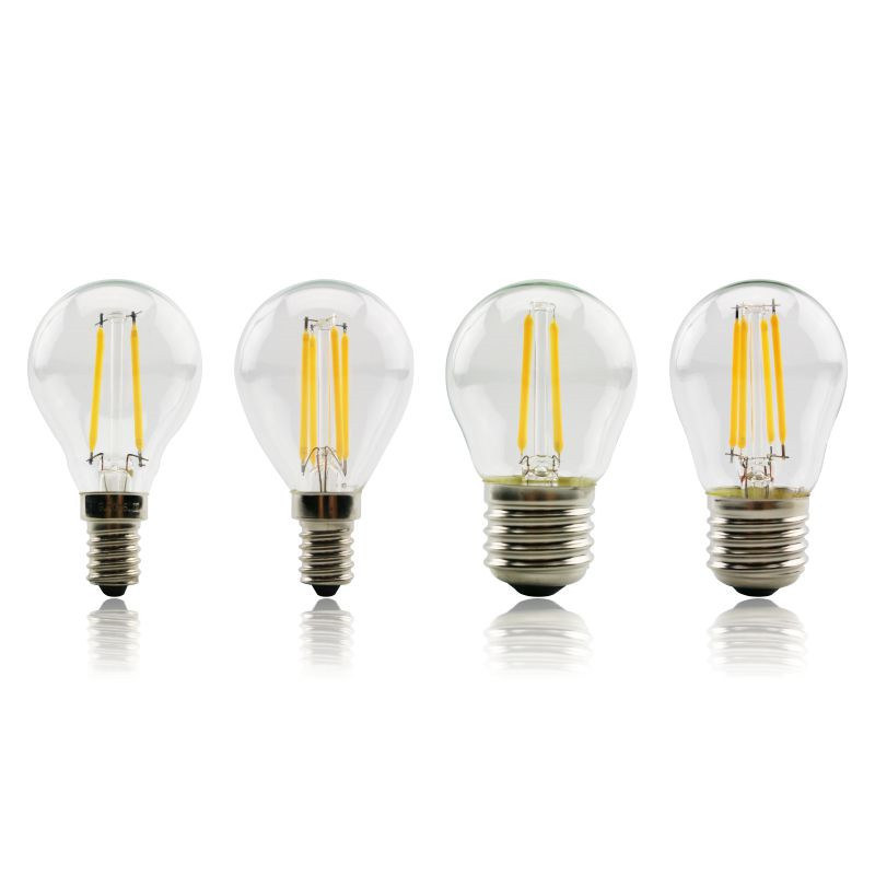 LED Bulb E27 E14 G45 AC 220V LED Glass Ball Bulb 2W 4W 6W Edison Lamp Antique Retro Vintage Led Filament Light