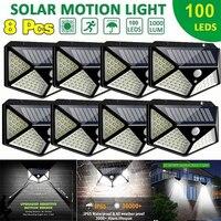 100LED Solar Wasserdichte Motion Sensor Sicherheit Außen Licht Wand Licht 270 Grad Weitwinkel von 3 Modi Geeignet für Garten