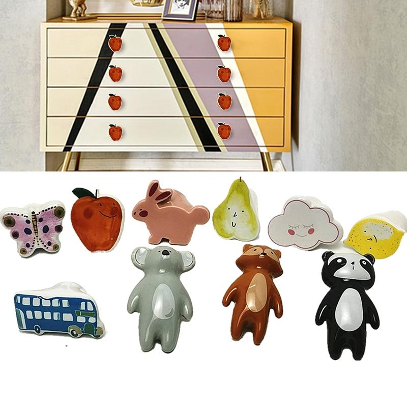 Cartoon Furniture Knobs Ceramic Cabinet Knobs Kid Dresser Door Children Knobs Kitchen Furniture Hand