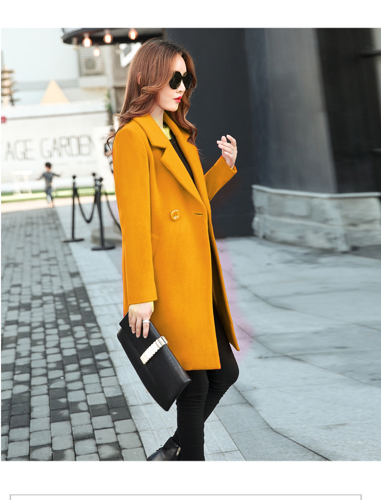 YICIYA Winter autumn Coat Women Wool Jacket Long Oversized Coats Plus Size Large Black Blend Woolen Warm Outerwear 2019 Clothing 42