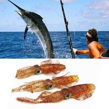 Fake Bait Fishing  Soft Lure 12CM Squid Jig Lures Octopus For Sea Wobbler