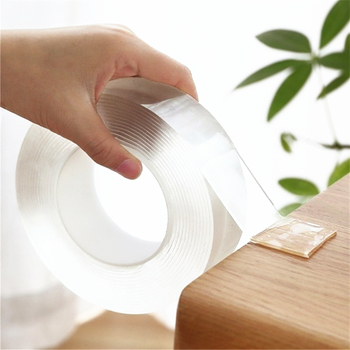 3M Length Double Sided Magic Nano Tape Adhesive Foam Gel Grip Sticker Reusable Traceless Removable Washable