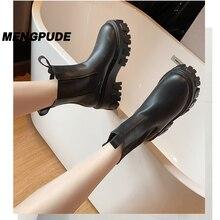 MPD mode femmes bottes Martin bottes grosses bottes mode poche plate-forme bottes dames bottines tout match bottes courtes