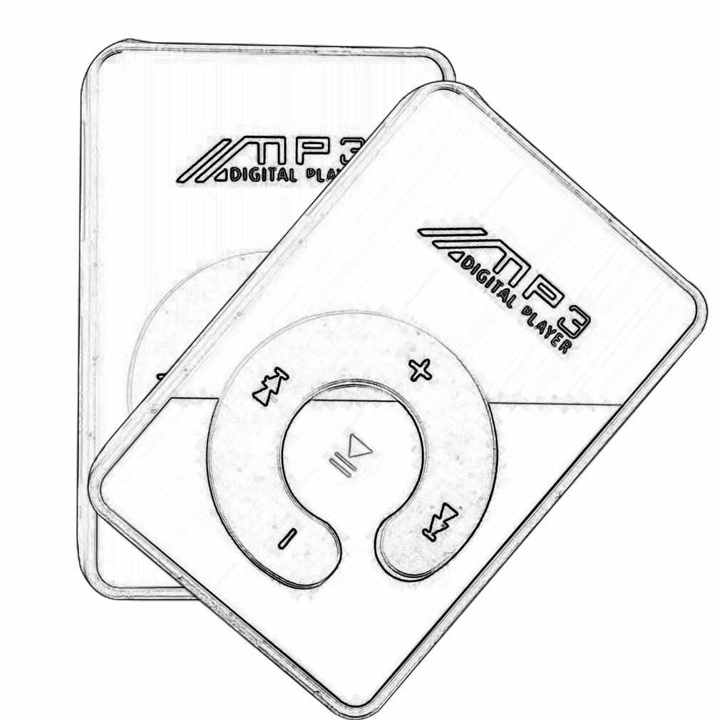 แบบพกพา Mini Mirror CLIP MP3 เครื่องเล่นสื่อสนับสนุน Micro SD TF Card แฟชั่น HIFI MP3 สำหรับกีฬากลางแจ้ง