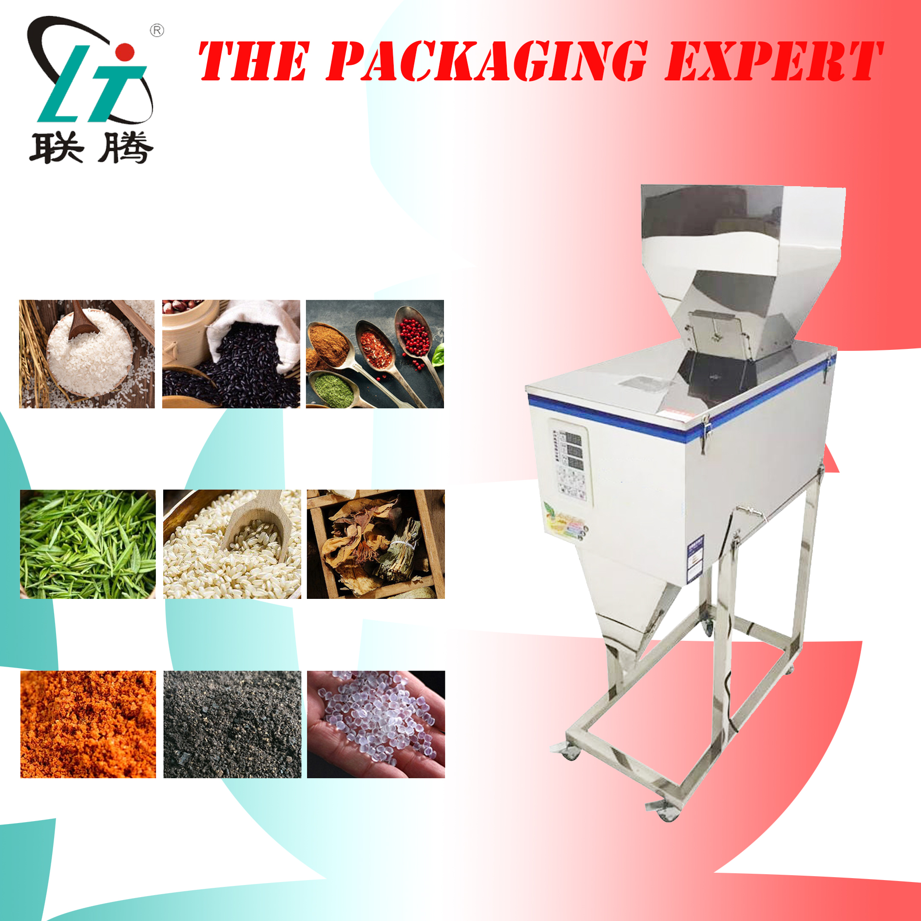 Racking Machine Weighting And Filling Machine Scale Filler For Coffee Beans Tea Leaf Grain Medicine Seed Salt Rice Flour Powder