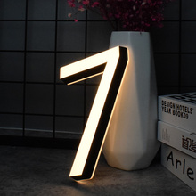 Acrylic Mini House Numbers 0-9 ABC 3D Modern Customs outdoor Plates Stainless Steel Letter Sign Address Number for apartment